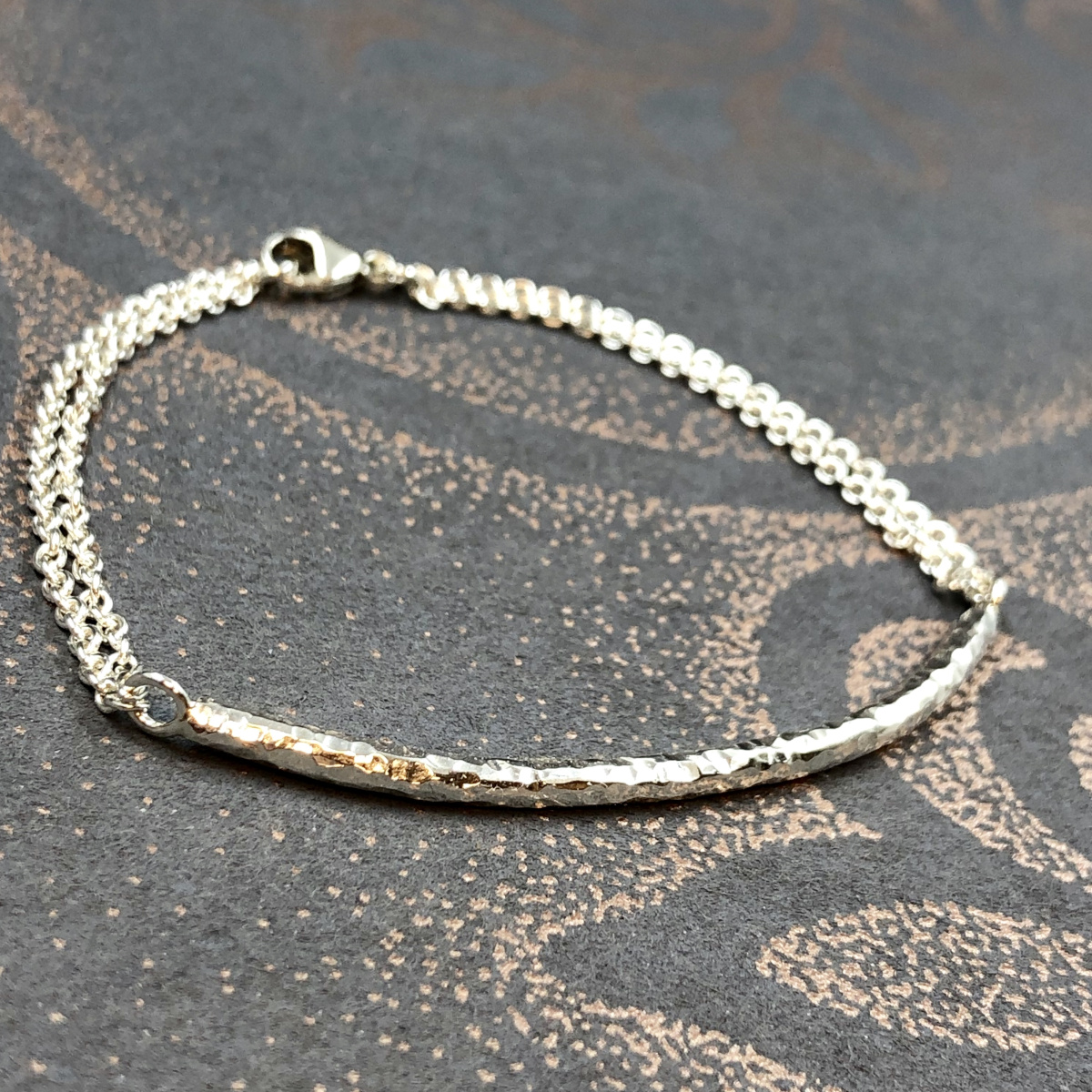 Silverarmband, armband i silver, handgjort