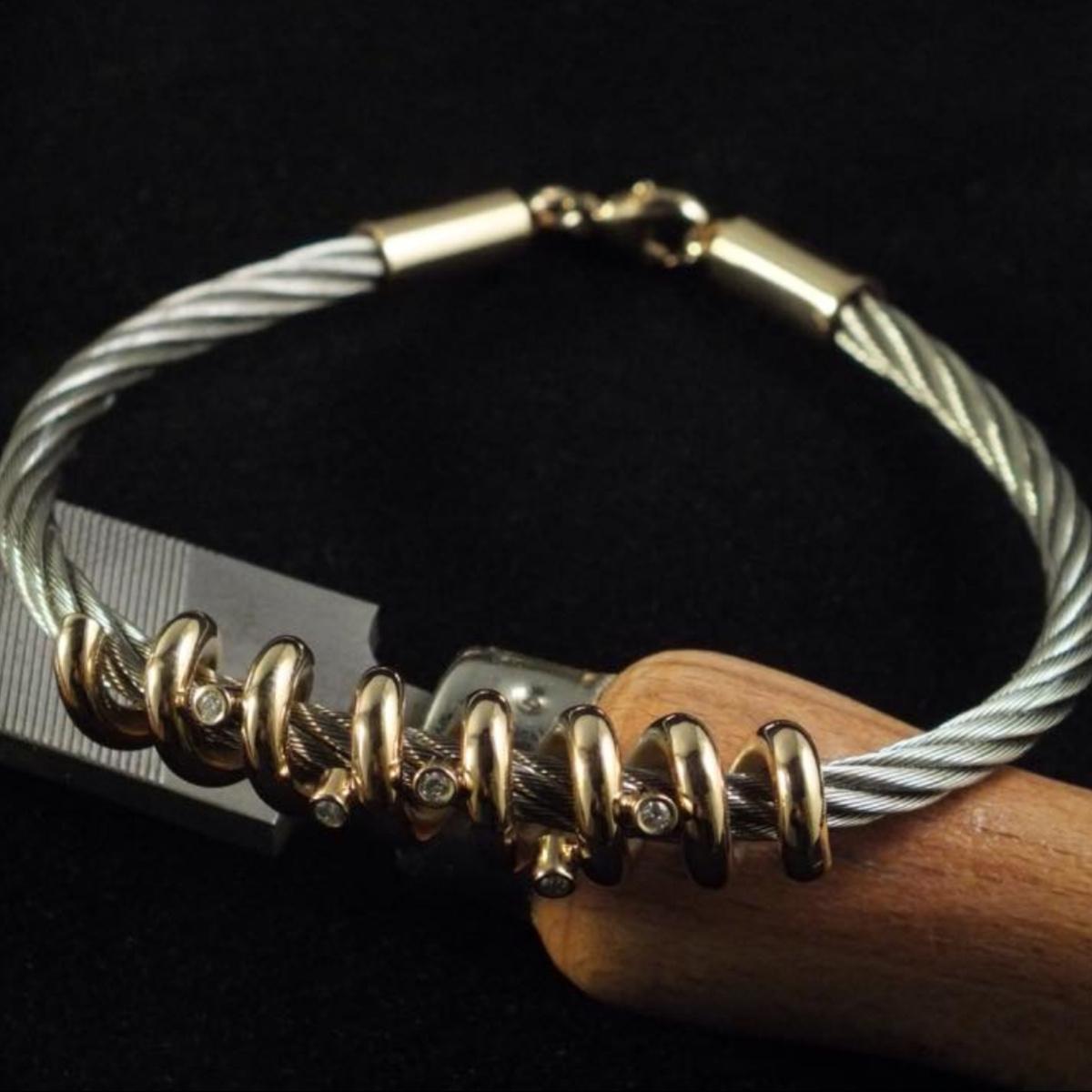 Herrarmband, stålarmband, guldarmband