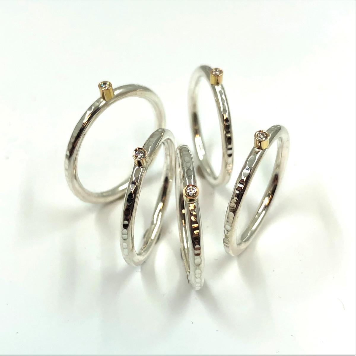 silverringar, diamantringar, skogensguld