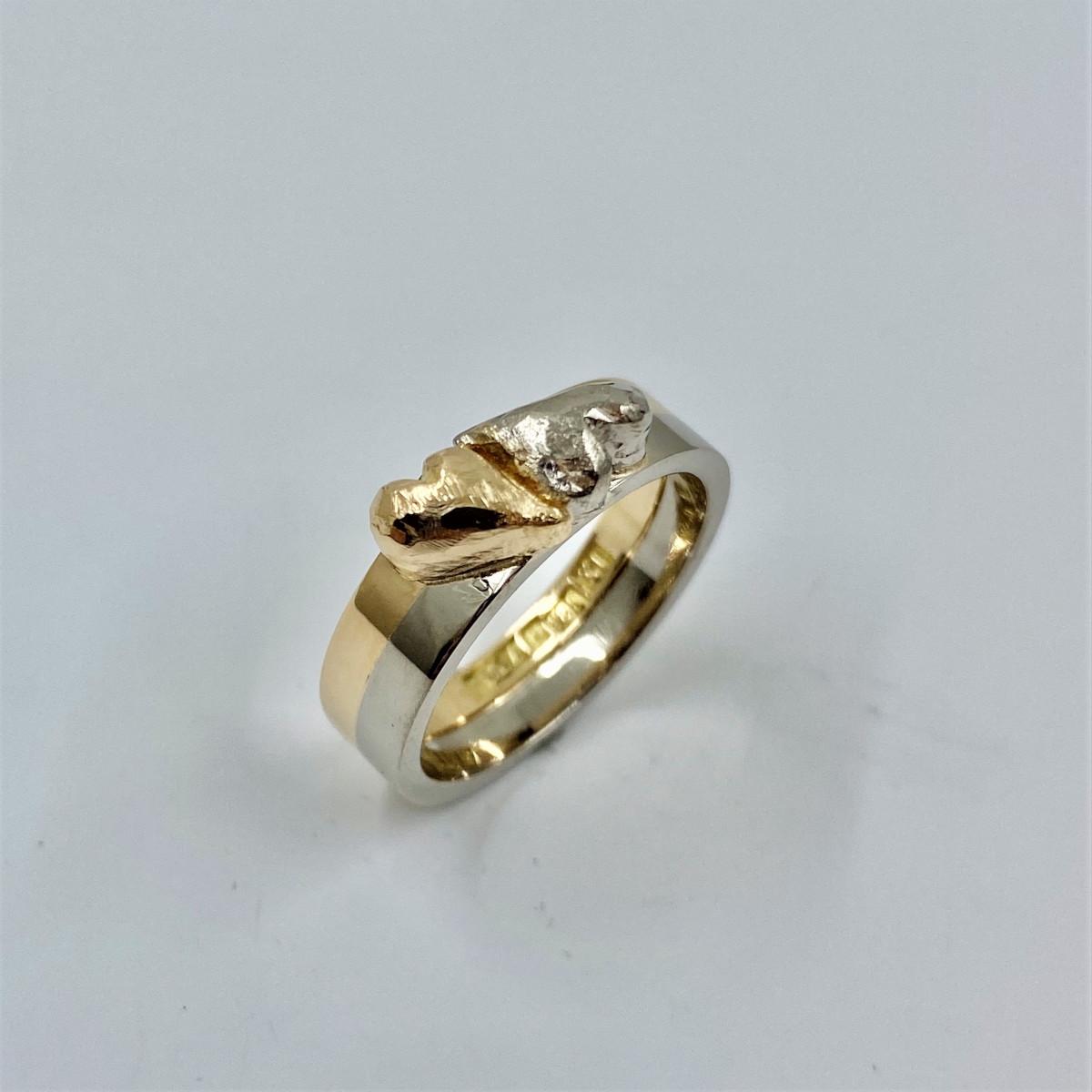 Hjärtring, ring med hjärtan, handgjord ring