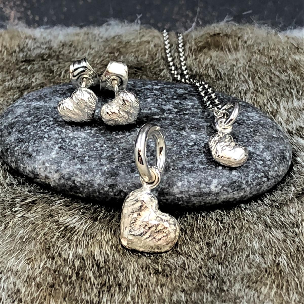 Silverhjärtan, silverörhängen, silverhänge