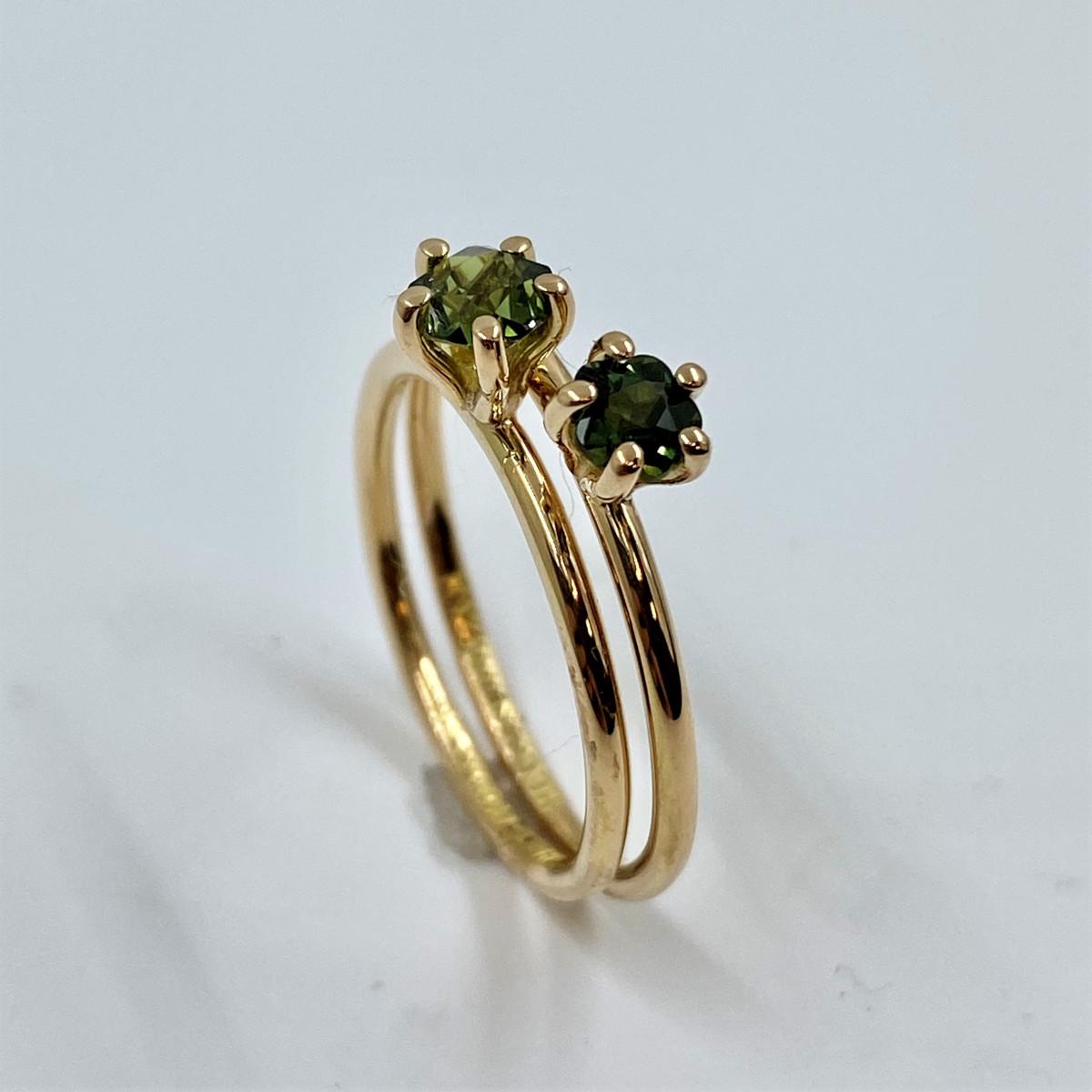 Safirring, stenring, grön ring, enstensring